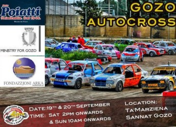ASMK autocross 2-day Gozo event in aid of the Arka Foundation