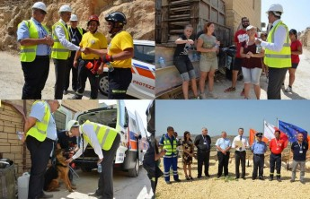 Video of scenes from the earthquake simulation exercise in Gozo