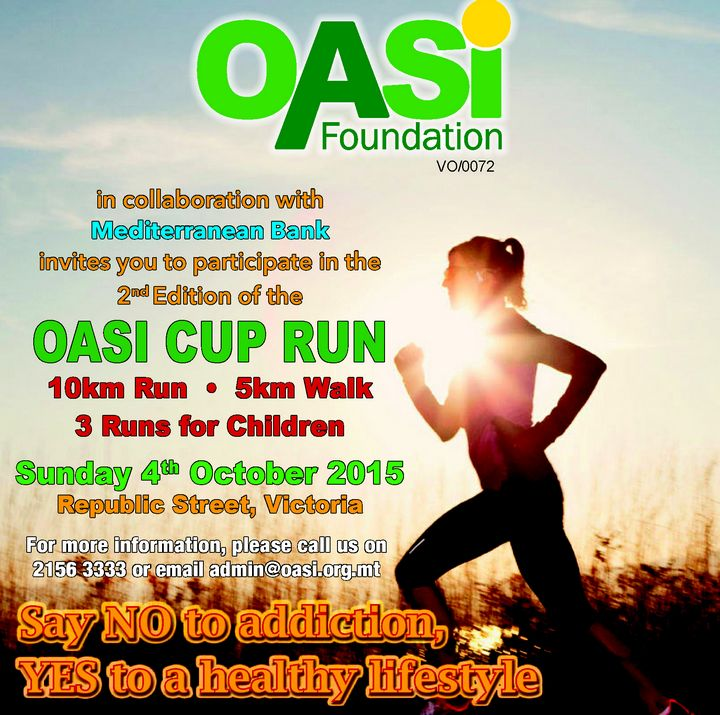 OASI Foundation Cup Run 2015: Say NO to addiction, YES to a healthy lifestyle