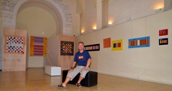 Exhibition of 'Canvas Music' by Richard Bourne at the Ministry for Gozo