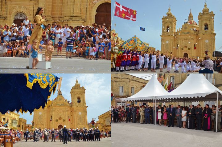 Commemoration ceremony in Xaghra for the two Victories of Malta