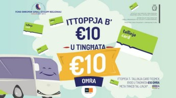 Tallinja card holders can top up with €10 or more & get €10 bonus