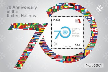 New stamp commemorates 70th Anniversary of the United Nations