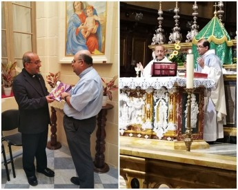 Fr Khali Jaar thanks the people of Gozo for their hospitality