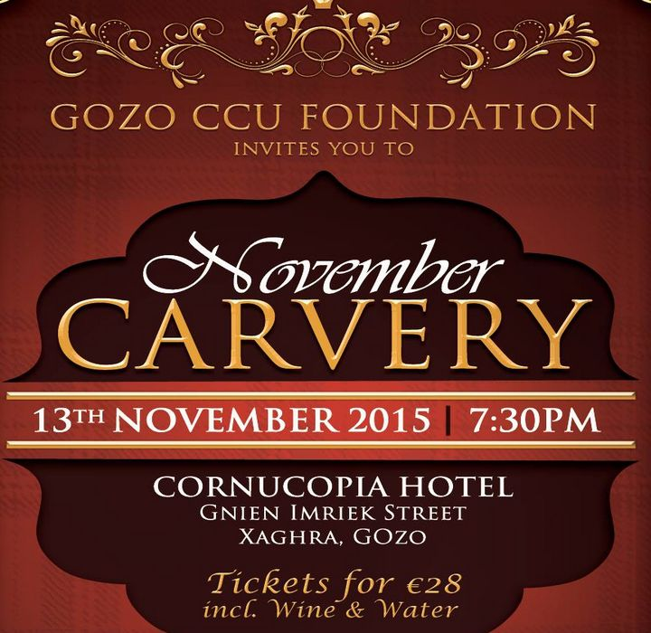Gozo CCU Foundation's fundraising November Carvery
