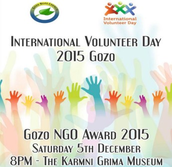 Gozo NGOs Association Award 2015 ceremony second edition