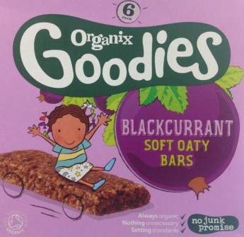 Health warning on Blackcurrent Soft Oaty Bars for children under 3