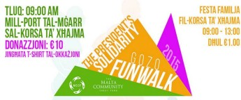 The President's Solidarity Gozo Funwalk and Family Fest next Sunday