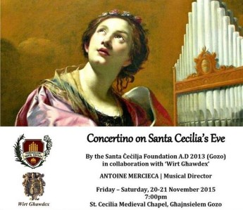 Concertino on Santa Cecilia's Eve: Commemorating feast of Santa Cecilia
