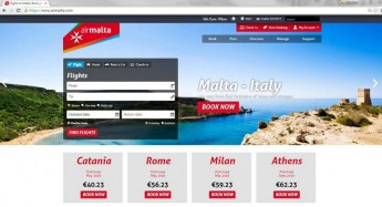Air Malta redesigns the front-page of its website