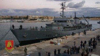 P62 patrol boat donated by Irish Government arrives in Malta