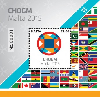 CHOGM Malta 2015: New €3 miniature sheet from MaltaPost