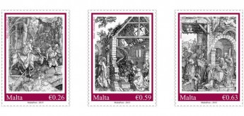 Christmas 2015 stamp set: Albrecht Dürer's series 'Life of the Virgin'