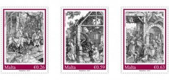 Christmas 2015 stamp set: Albrecht Dürer's series 'Life of the Virgin'