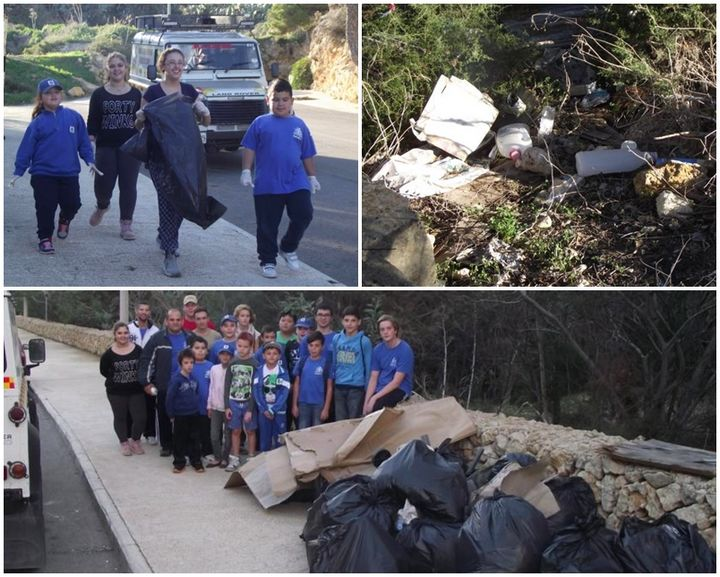 ERRC cadets fill 28 garbage bags during Fort Chambray clean-up