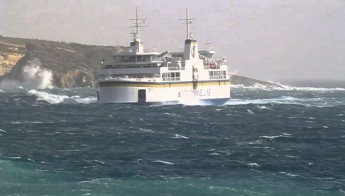 Gozo ferry operating via Comino route due to rough weather