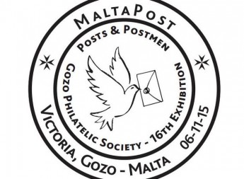 Special hand postmark – Gozo Philatelic Society 16th exhibition