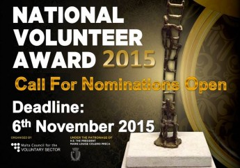 National Volunteer Award 2015 -  Nominations close on Friday