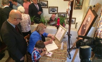 President visits museum of Fr Joseph Cauchi in San Lawrenz