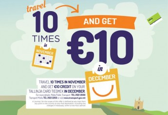 Travel 10 times in November & get €10 on your tallinja card