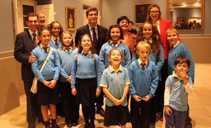 Victoria Primary students attend opening of Peace Donkey exhibition