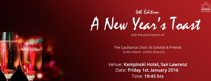 A New Year's Toast!: With the Gaulitanus Choir, soloists & friends
