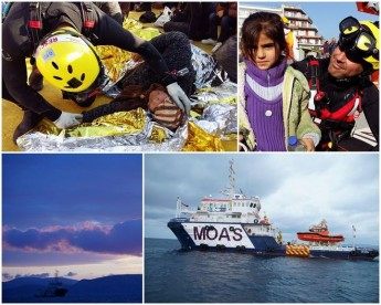 ERRC rescue swimmer involved in MOAS rescues in the Aegean Sea