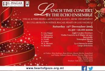 Heart of Gozo Museum Lunchtime Concert by The Echo Ensemble