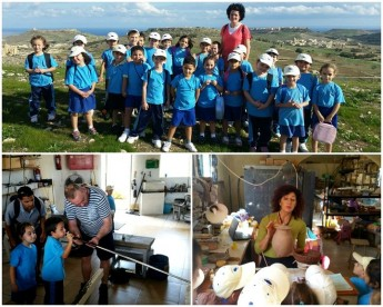 Gharb Primary School students find themselves on top of Gozo!