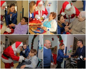 Dr Justyne Caruana visits the elderly residents at Gozo General Hospital