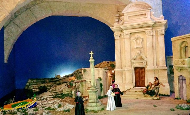 A Gozitan crib with a difference on display in St George`s Square, Victoria