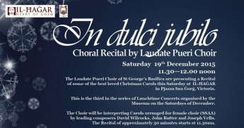In dulci jubilo: Choral Recital of Carols by Laudate Pueri Choir