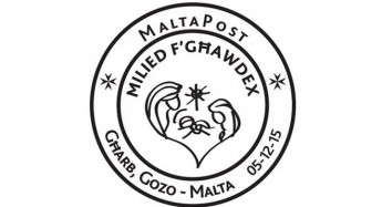 Special hand postmark – Milied f'Ghawdex at Gharb Post Office