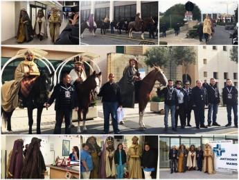 The Magi arrival in Malta & visit children at Mater Dei Hospital