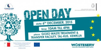 Open Day at the new Gozo Waste Transfer Station at Tal-Kus in Xewkija
