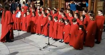 Piccole Stelle children's choir in concert at Il-Hagar Museum, Victoria