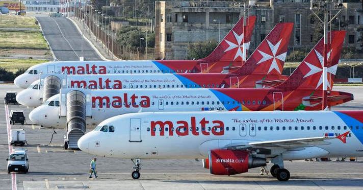 Seven Air Malta flights delayed today due to technical reasons