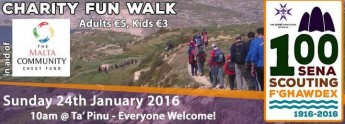 100 years of Scouting in Gozo: Xaghra & Victoria Scouts charity walk