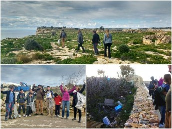 Gozo Rocks Cleanup collects 29 bags of rubbish around Sannat & Xlendi
