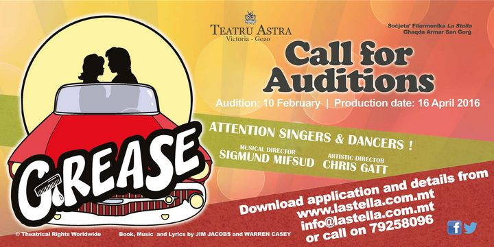 Astra Theatre launches call for auditions for its production of `Grease'