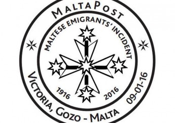 Special hand postmark Gozo - Maltese Emigtrants' Incident