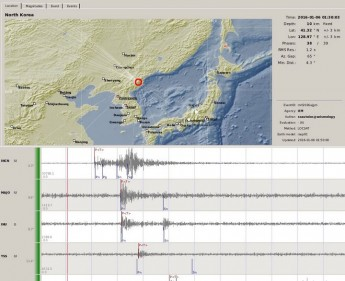 The North Korea bomb blast detected by SMRG virtual network