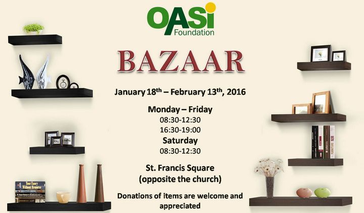 Fundraising bazaar for OASI Foundation opens Monday in Victoria