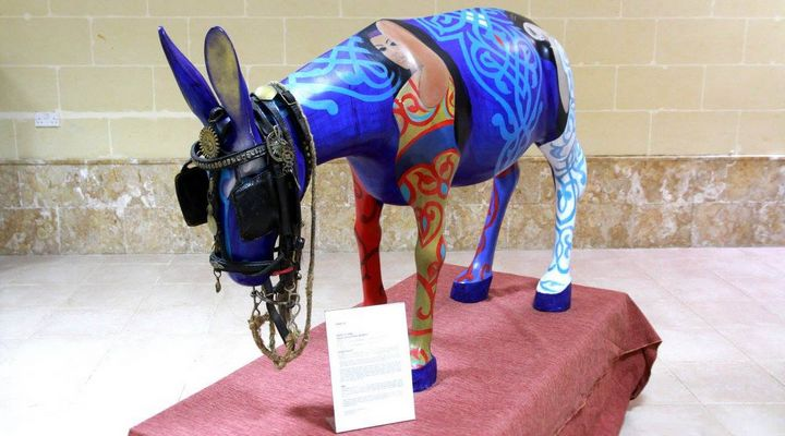 21 Donkeys in Ta' Pinu exhibition spread their message of peace