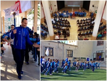Xewkija Primary welcomes Sri Chinmoy Oneness-Home Peace Run