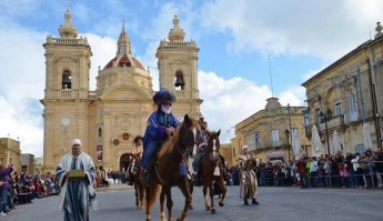 Xaghra welcomes 'La Cavalcata Dei Re Magi' for Feast of the Epiphany