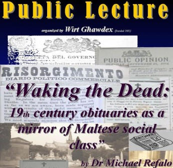 Waking the dead: Wirt Ghawdex lecture by Dr Michael Refalo