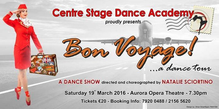 Bon Voyage!...a dance tour with the Centre Stage Dance Academy