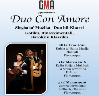 Duo Con Amore: A guitar duet performance in Gozo and Malta