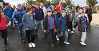 €1400 raised for the MCCF on Gozitan Scouts Charity Fun Walk